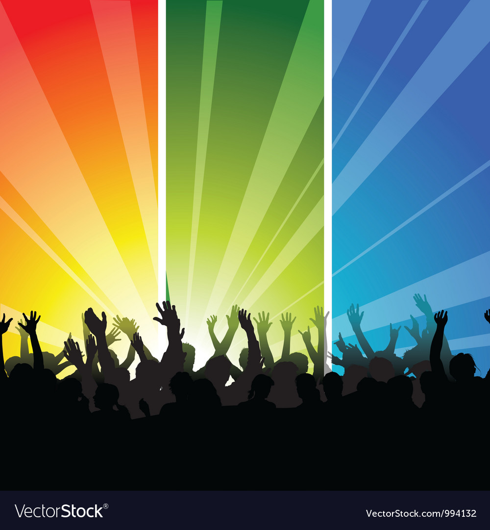 Audience at the concert vector | Price: 1 Credit (USD $1)
