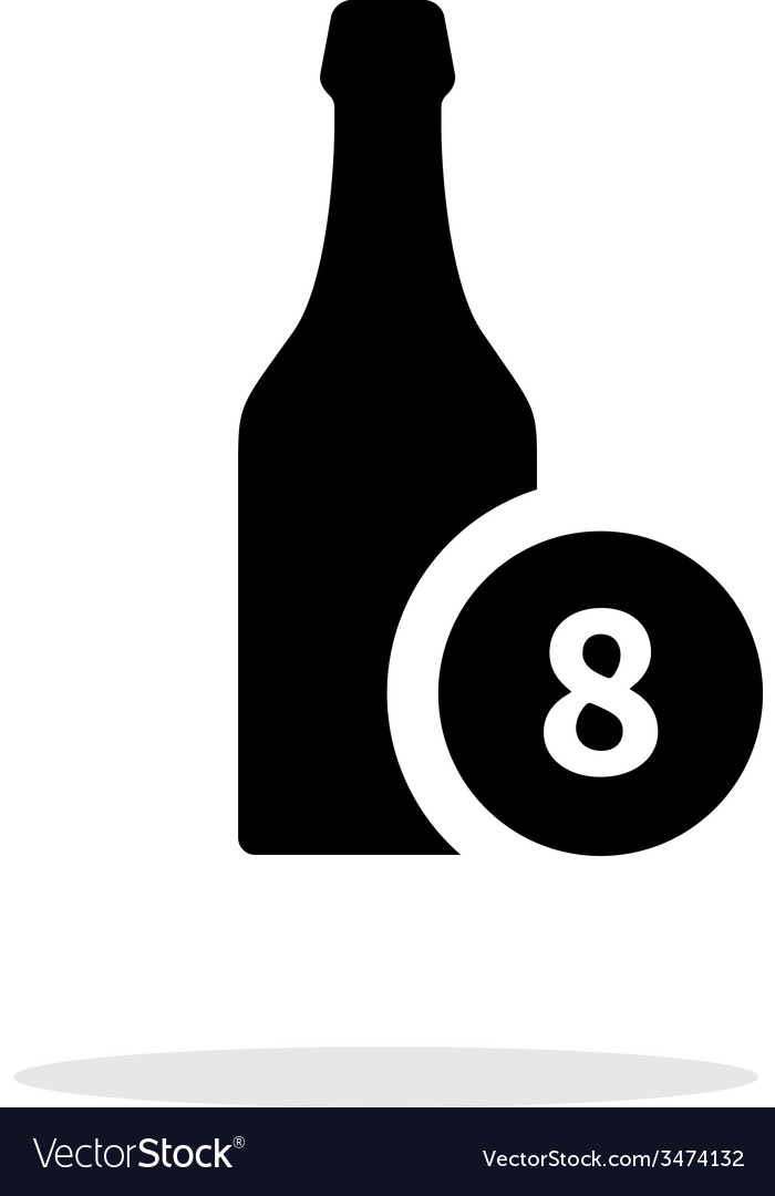 Beer bottle with number simple icon on white vector | Price: 1 Credit (USD $1)