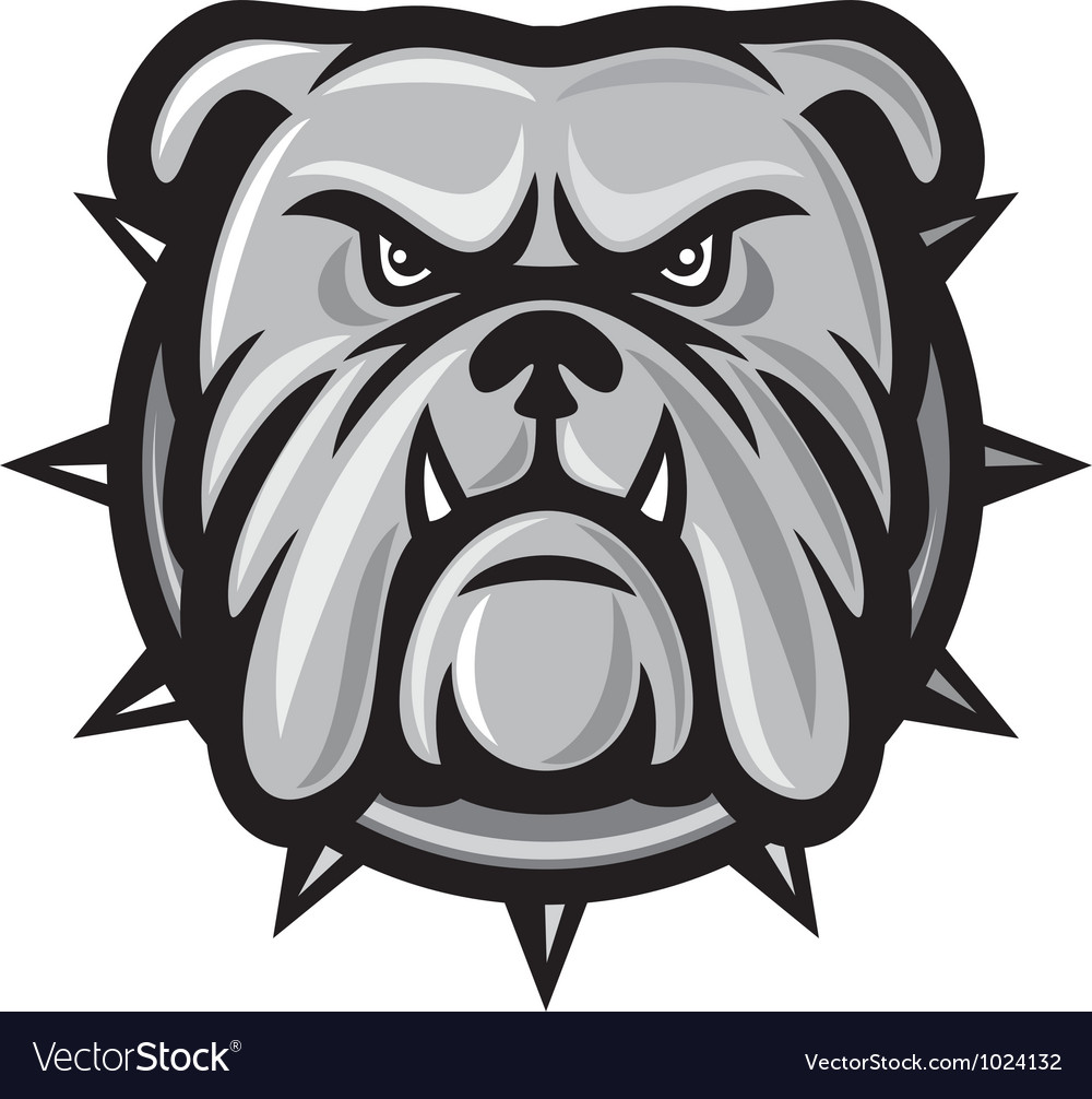 Bulldog head vector | Price: 1 Credit (USD $1)