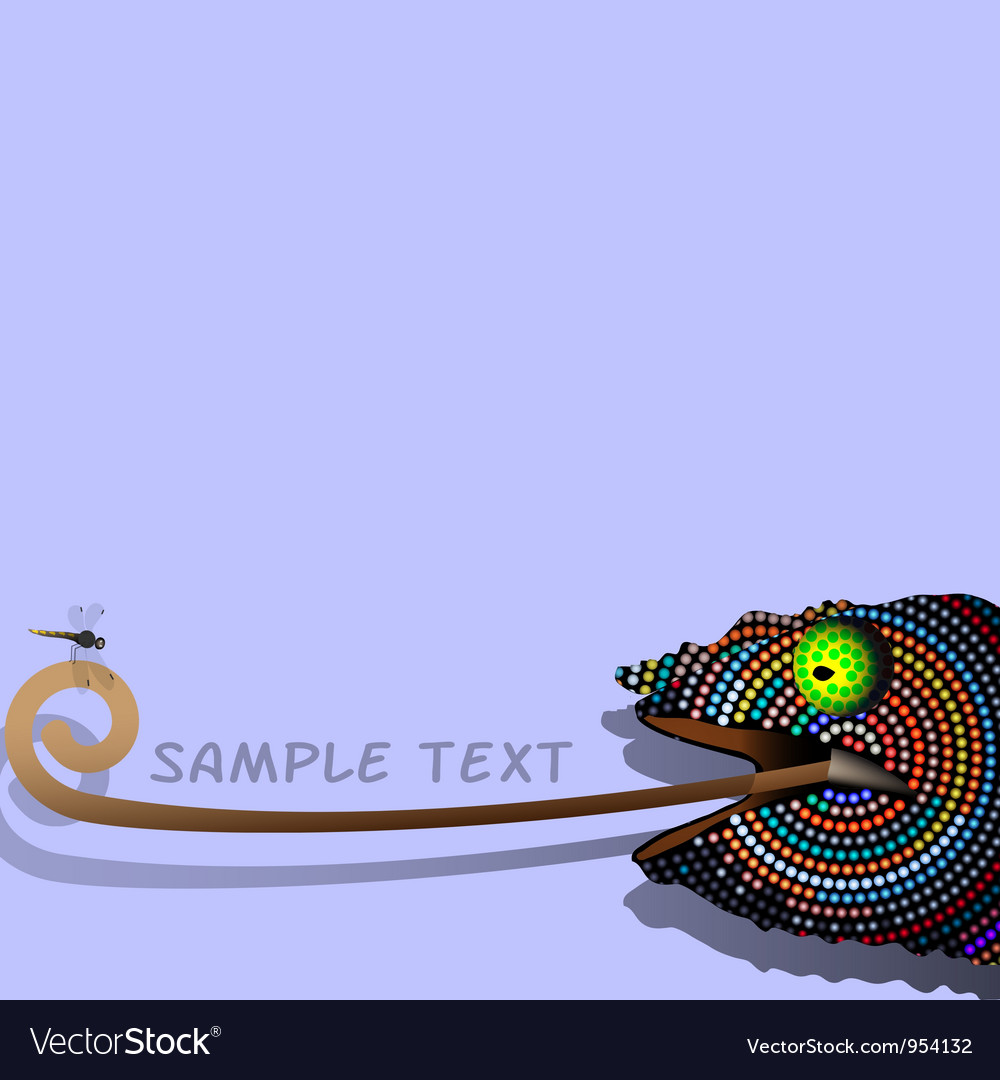 Chameleon 2 vector | Price: 1 Credit (USD $1)