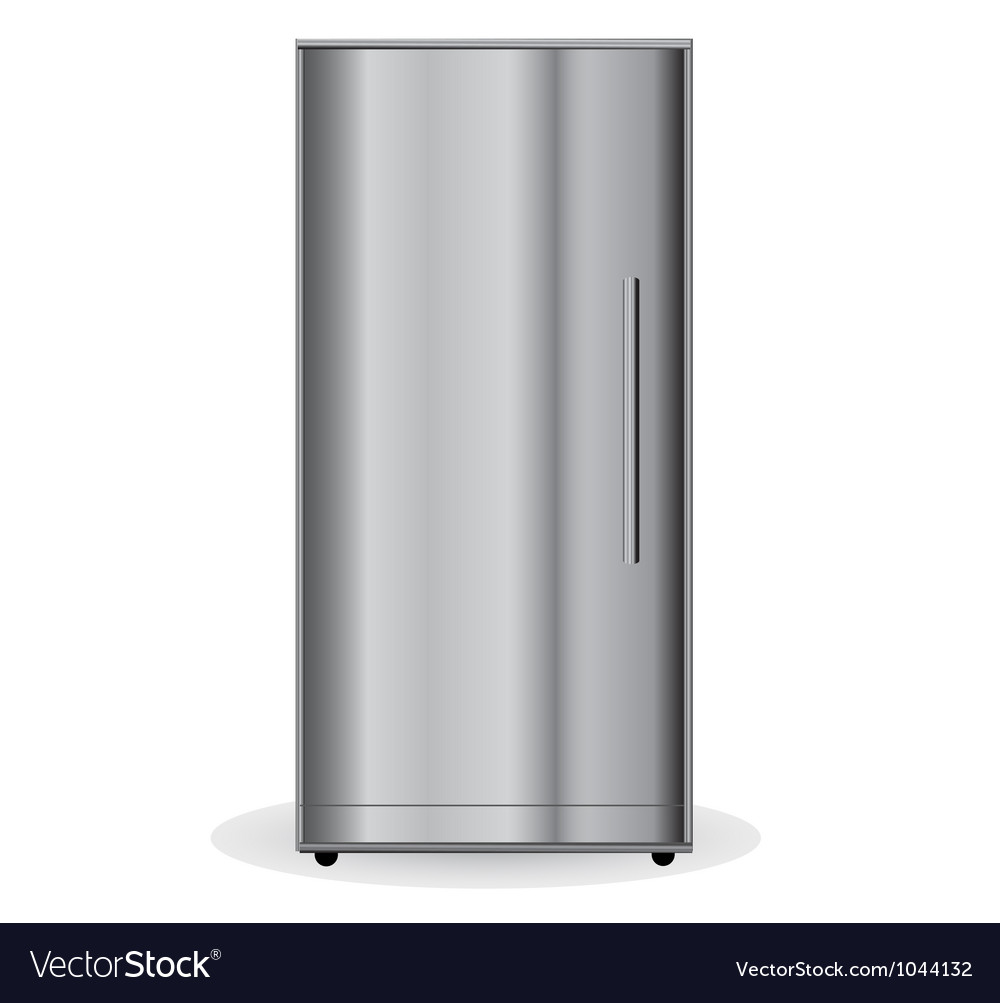 Chrome refrigerator vector | Price: 1 Credit (USD $1)