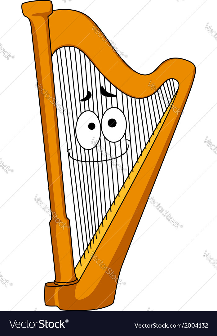 Classical wooden harp vector | Price: 1 Credit (USD $1)