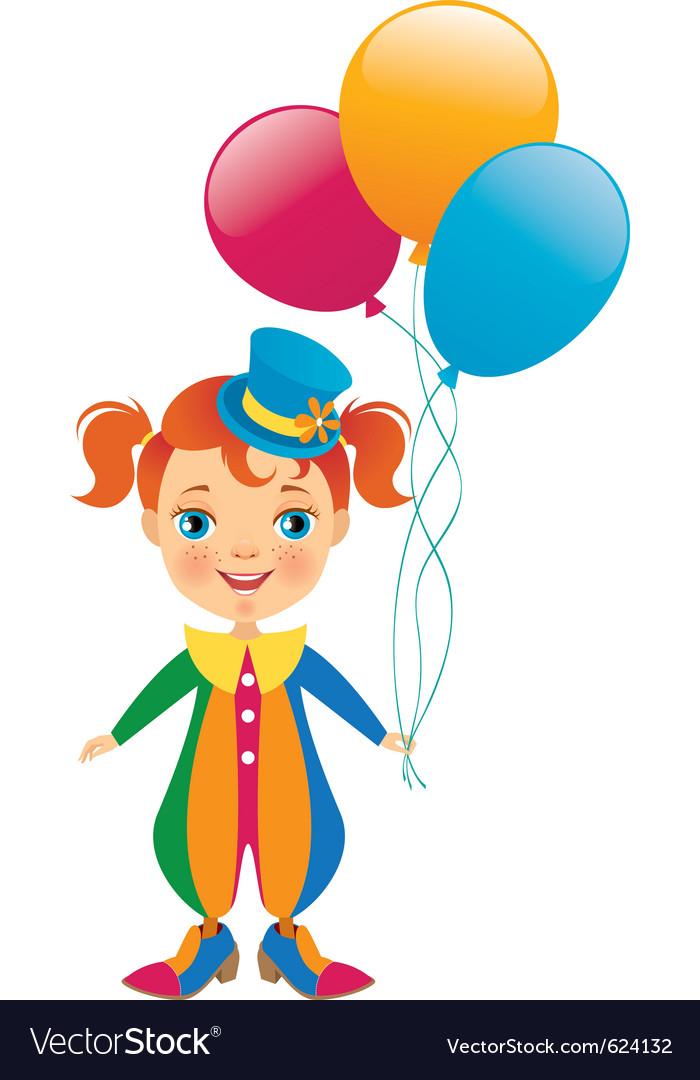 Clown baby vector | Price: 1 Credit (USD $1)