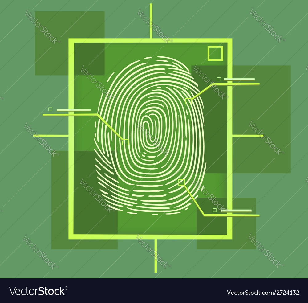 Hi tech fingerprint composition vector | Price: 1 Credit (USD $1)