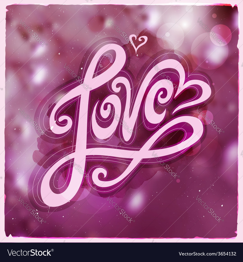 Love hand lettering - handmade calligraphy vector | Price: 1 Credit (USD $1)