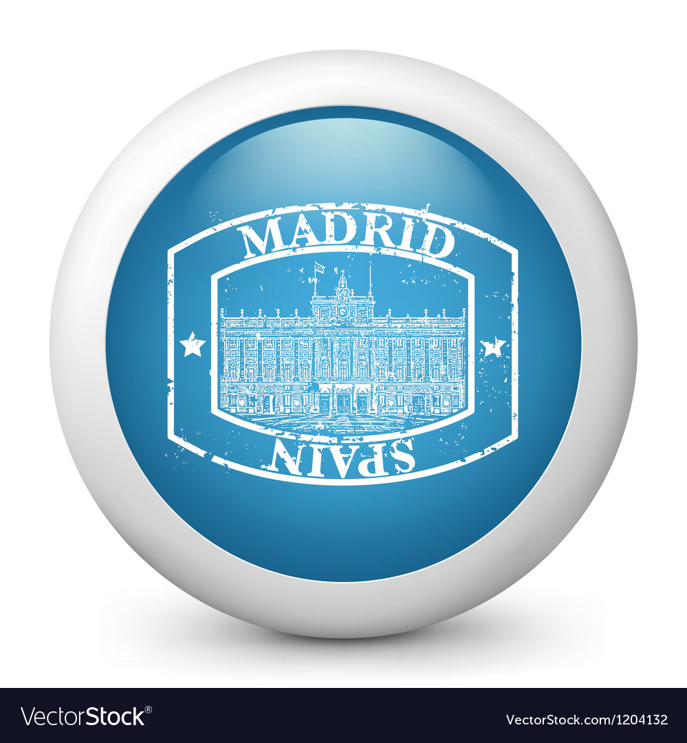 Madrid postage icon vector | Price: 1 Credit (USD $1)