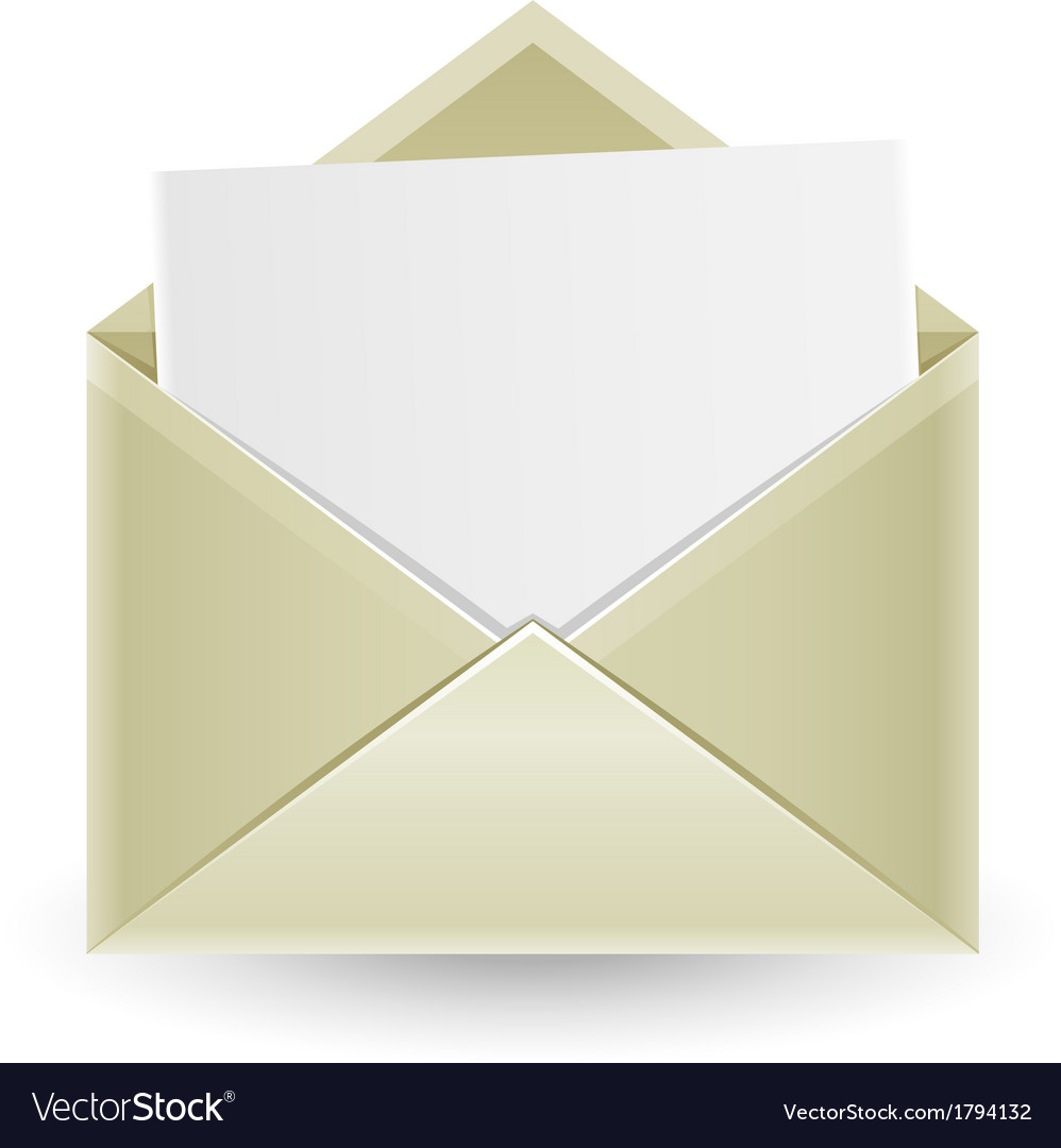The opened envelope vector | Price: 1 Credit (USD $1)