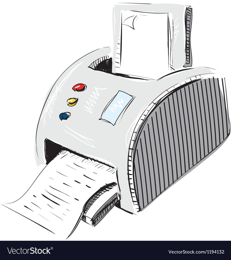 Print device vector | Price: 1 Credit (USD $1)