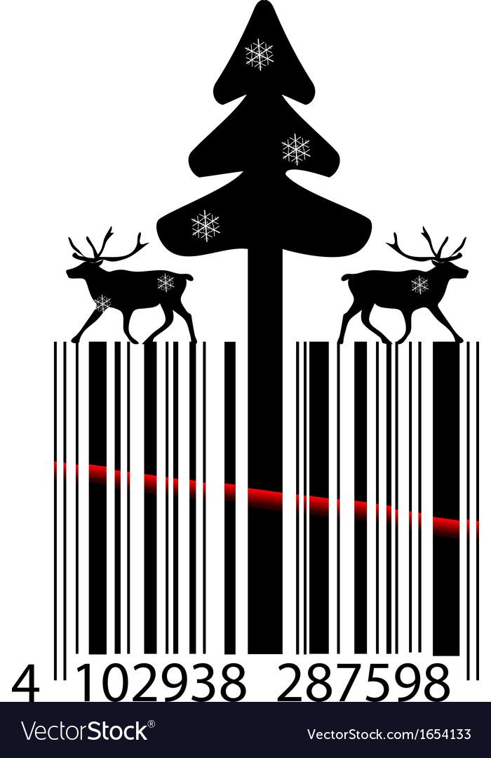 Creative christmas bar code vector | Price: 1 Credit (USD $1)