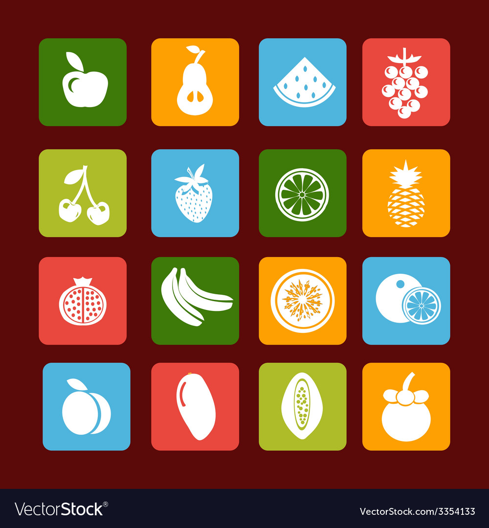 Fruit icon set - vector | Price: 1 Credit (USD $1)