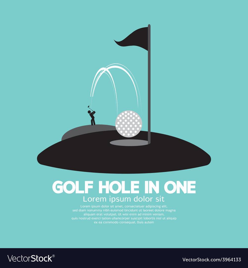 Golf hole in one sport symbol vector | Price: 1 Credit (USD $1)