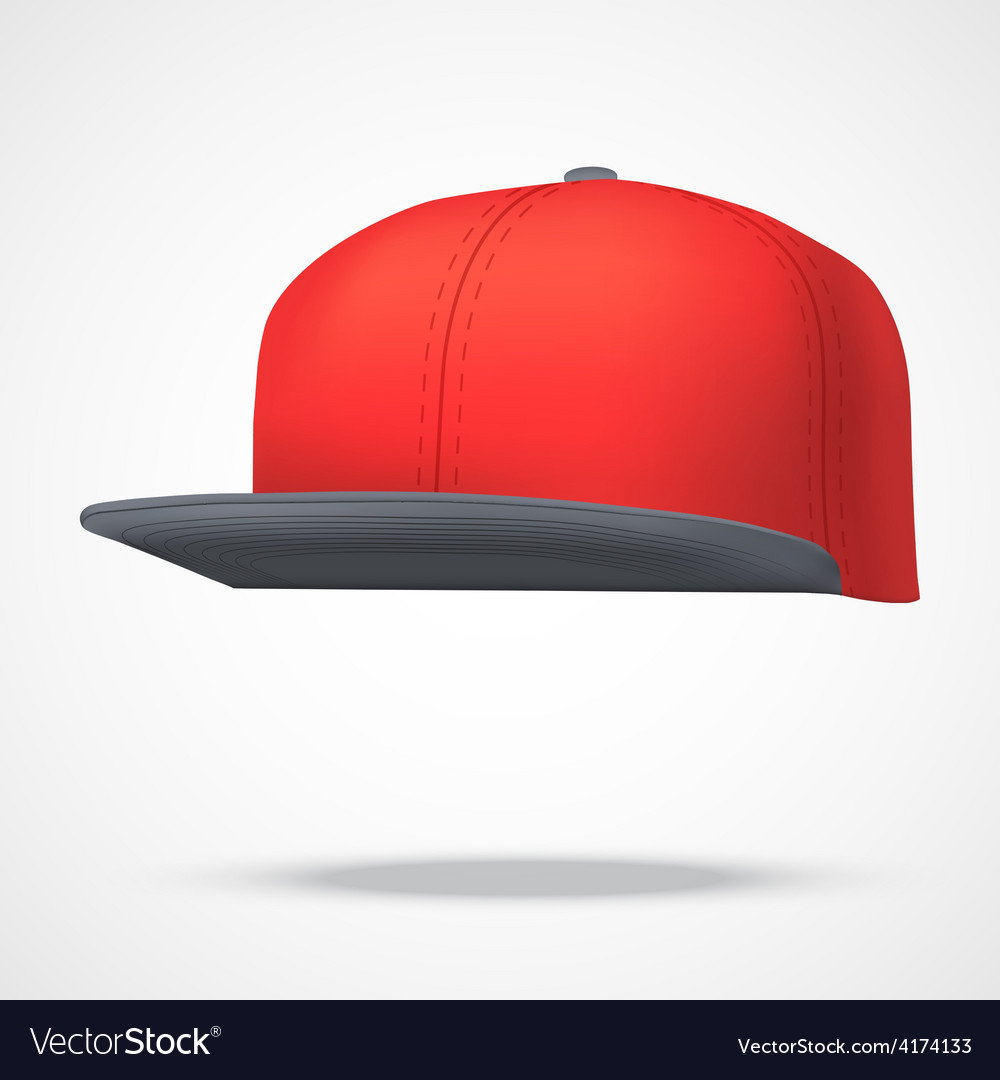 Layout of male color rap cap vector | Price: 1 Credit (USD $1)