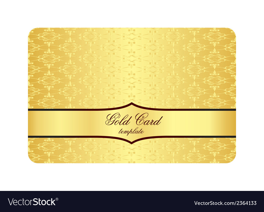 Luxury golden card with inscribed vintage pattern vector | Price: 1 Credit (USD $1)