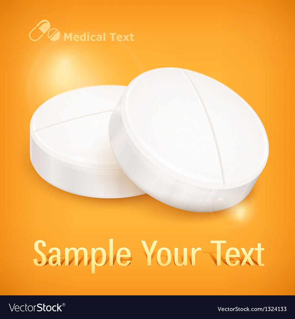 Pills on yellow vector | Price: 1 Credit (USD $1)