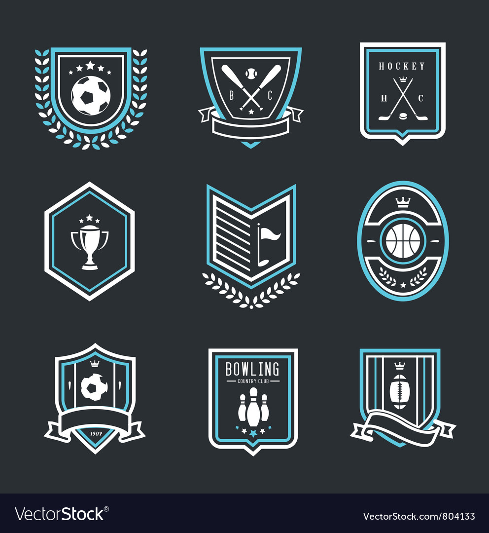 Sport emblems vector | Price: 3 Credit (USD $3)