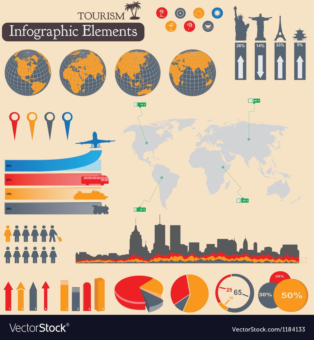 Tourism infographics vector | Price: 1 Credit (USD $1)