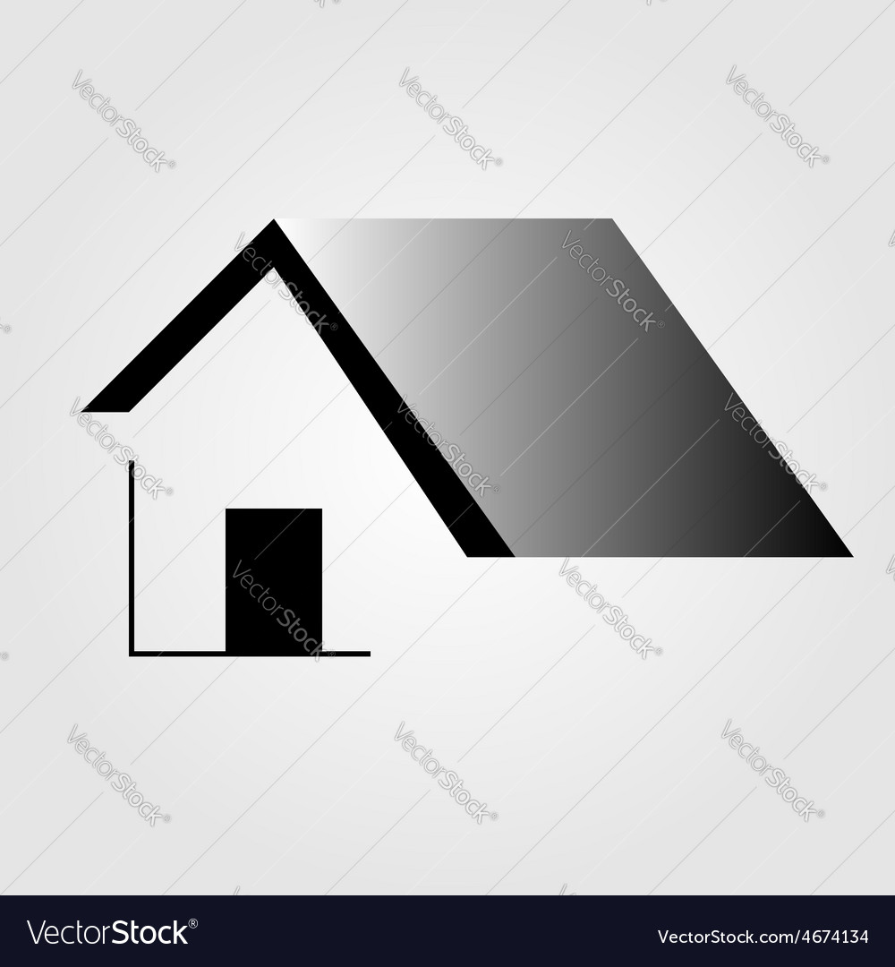 Abstract home logo vector | Price: 1 Credit (USD $1)