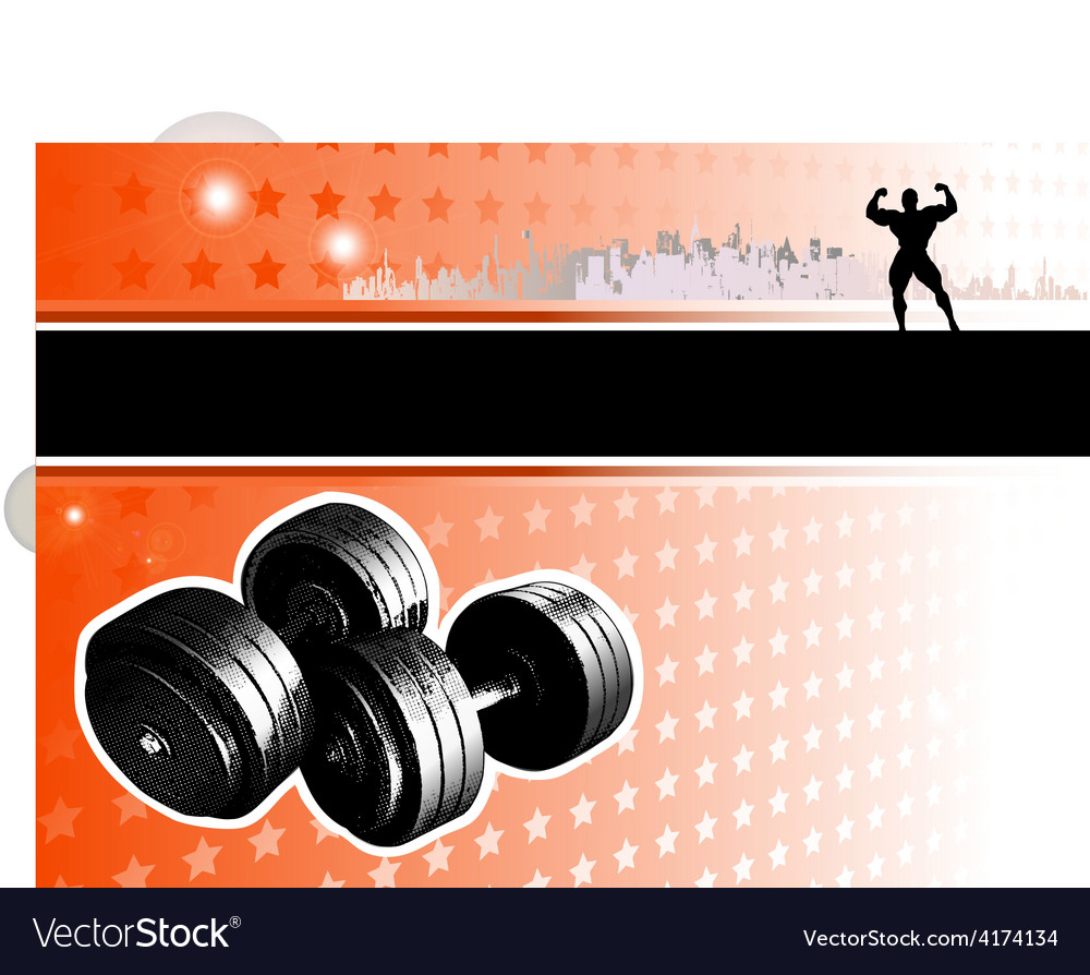 Bodybuilding poster vector