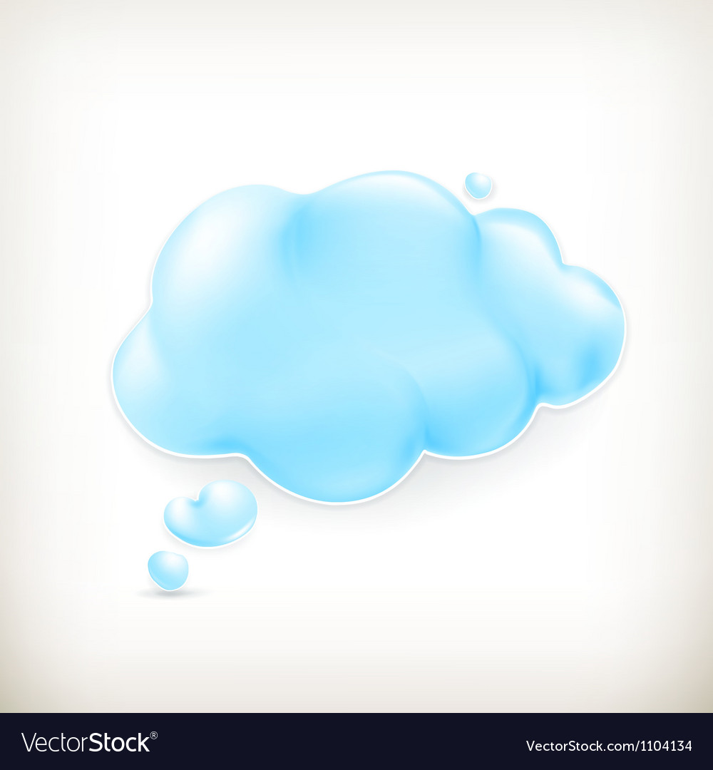 Cloud vector | Price: 1 Credit (USD $1)