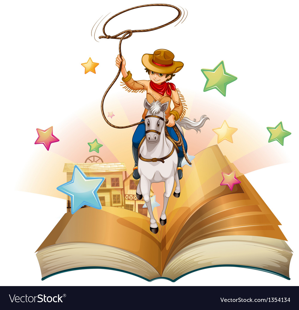 Cowboy book vector | Price: 1 Credit (USD $1)