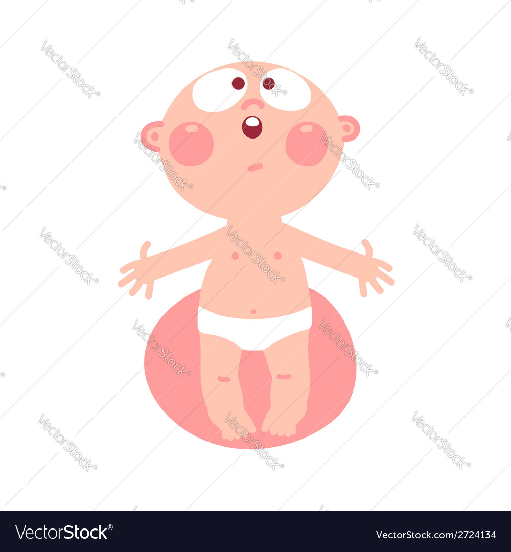 Funny baby vector | Price: 1 Credit (USD $1)