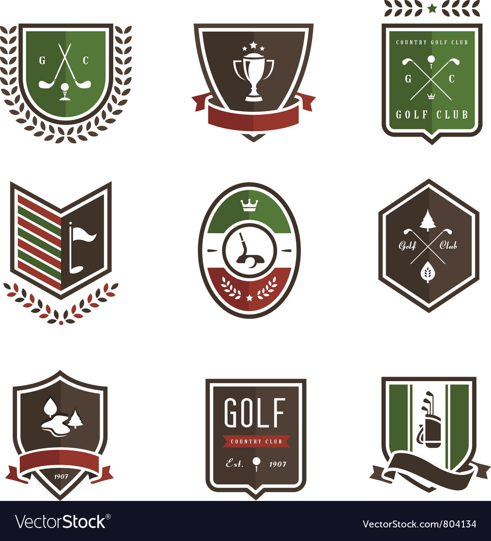 Golf emblems vector | Price: 3 Credit (USD $3)