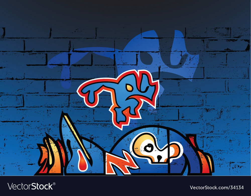 Graffiti wall vector | Price: 1 Credit (USD $1)