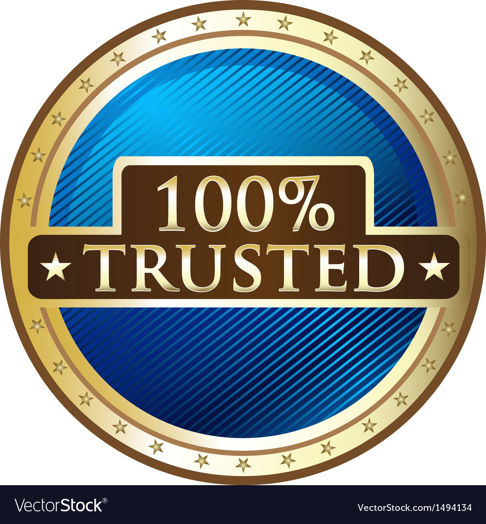 Hundred percent trusted vector | Price: 1 Credit (USD $1)