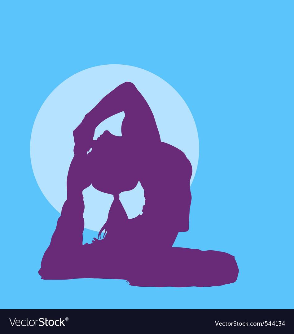 Meditating girl silhouette vector | Price: 1 Credit (USD $1)