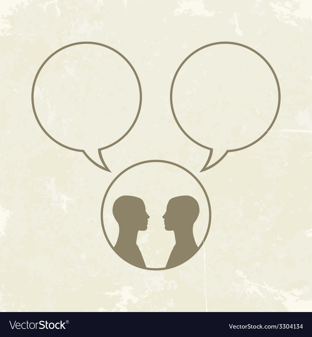 People icons with dialog speech bubbles vector | Price: 1 Credit (USD $1)