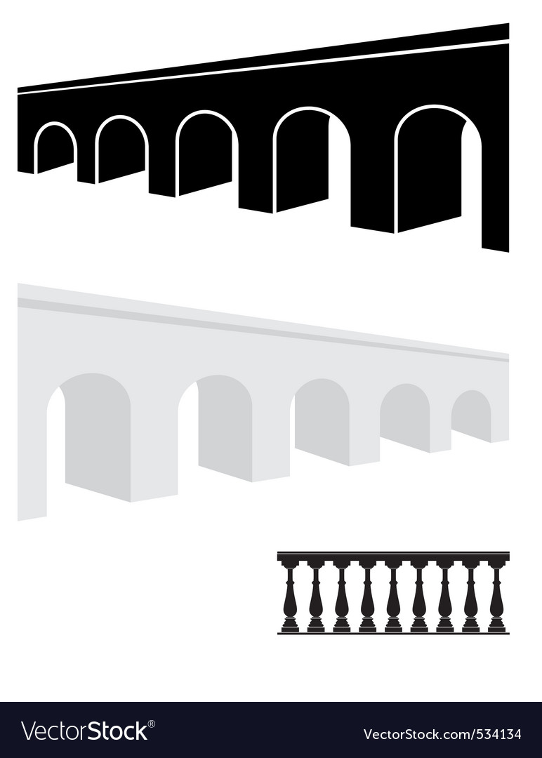 Stone bridge and balustrade vector | Price: 1 Credit (USD $1)