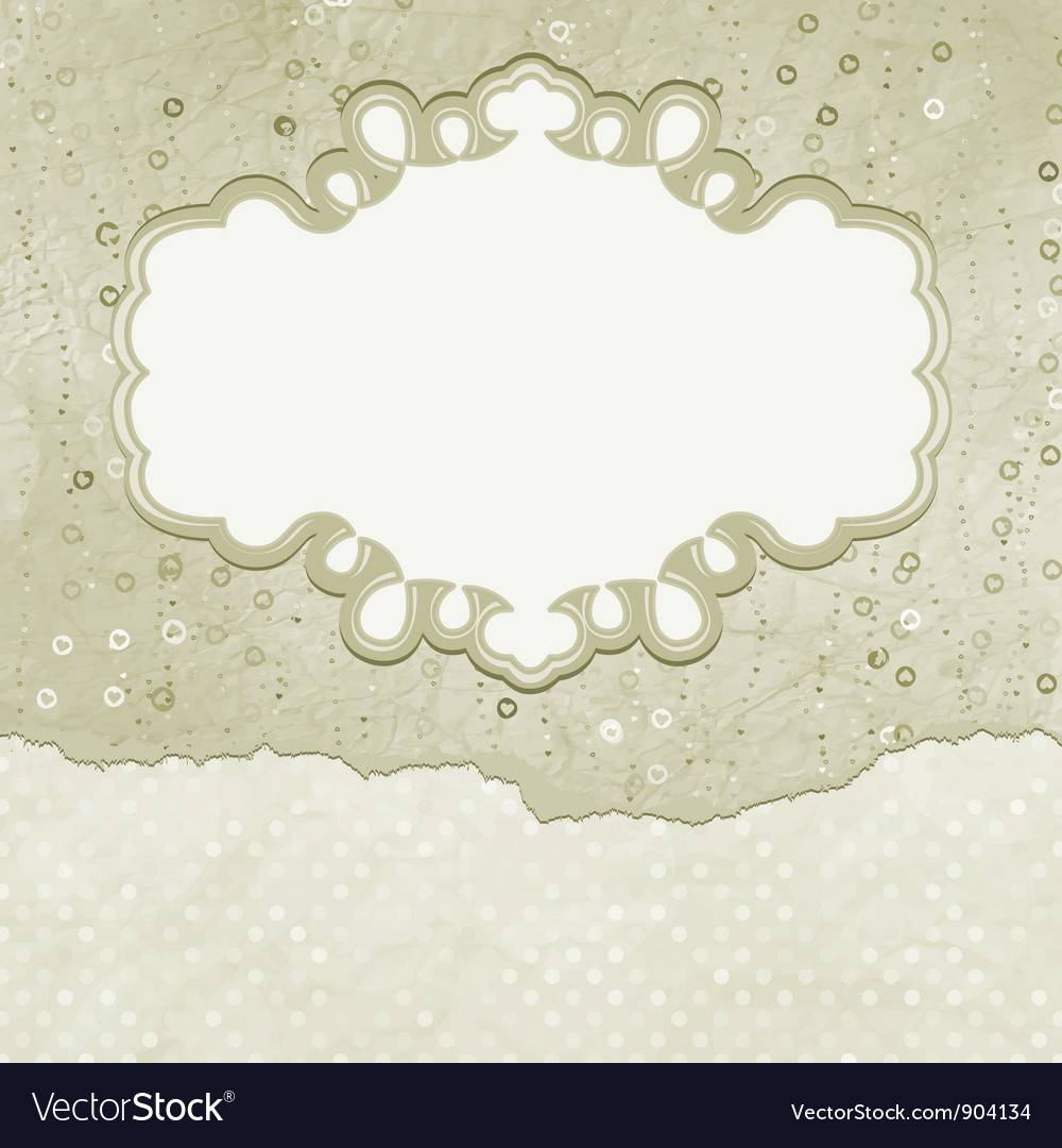 Vintage elegant card vector | Price: 1 Credit (USD $1)