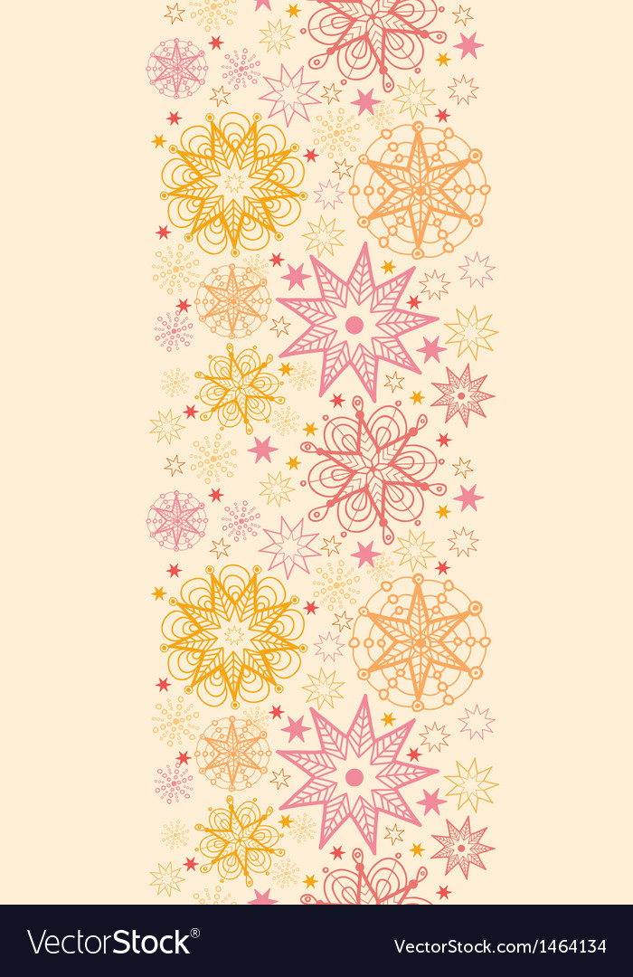 Warm stars vertical seamless pattern background vector | Price: 1 Credit (USD $1)