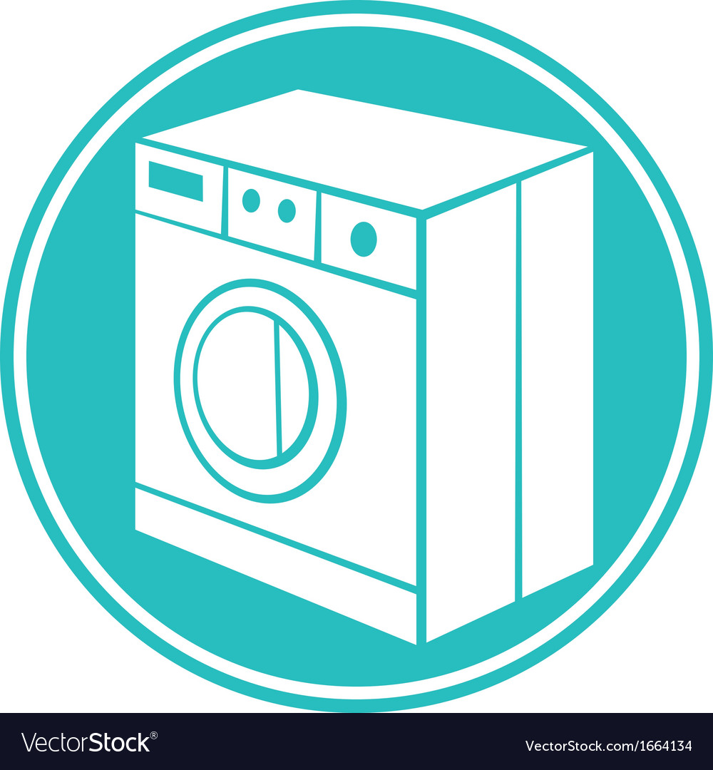 Washing machine symbol vector | Price: 1 Credit (USD $1)