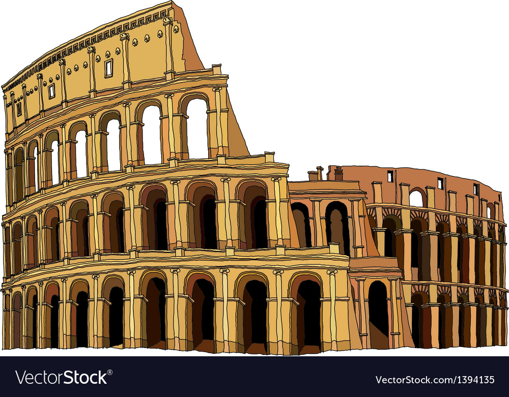 A view of colosseum vector | Price: 1 Credit (USD $1)