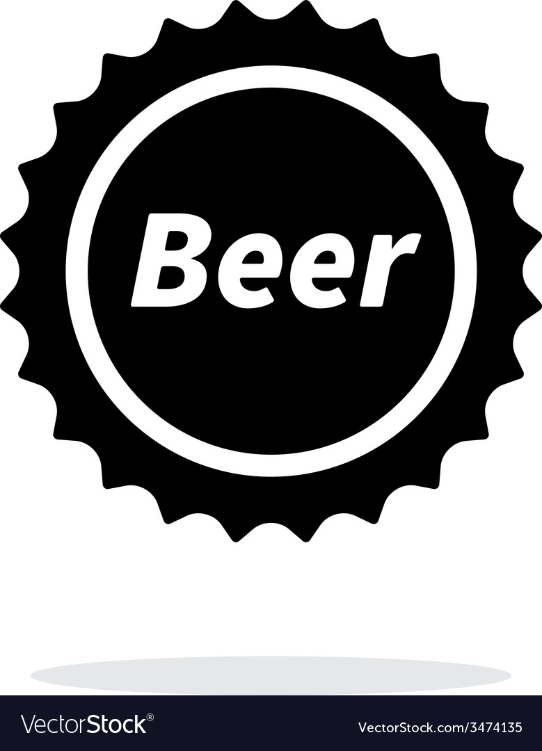 Beer bottle cup simple icon on white background vector | Price: 1 Credit (USD $1)