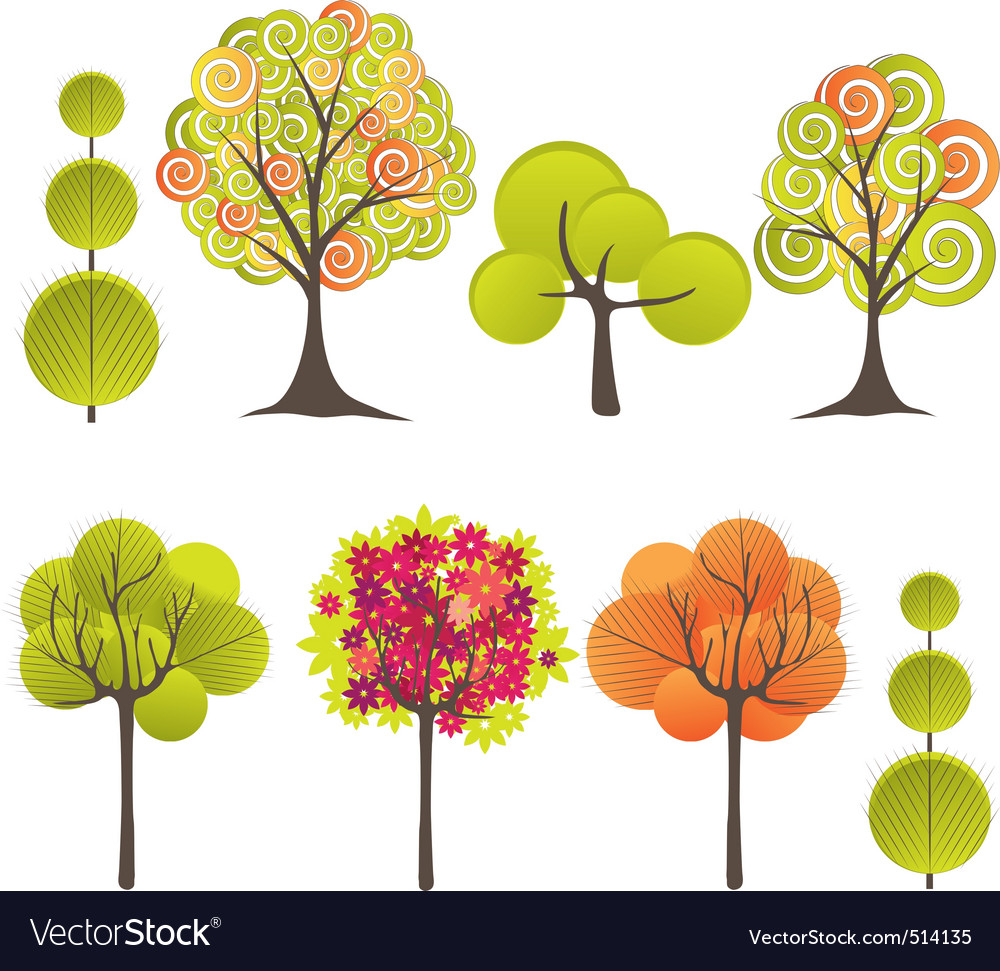 Ct tree vector illustration vector | Price: 1 Credit (USD $1)