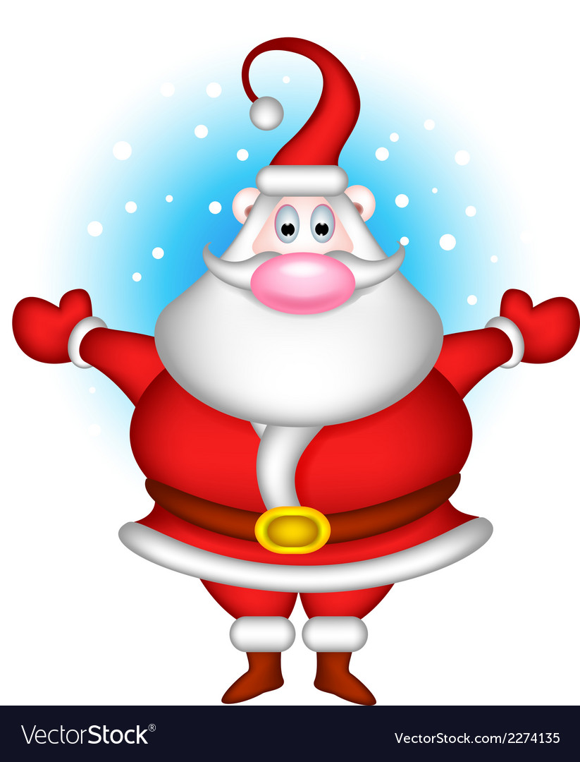 Cute christmas santa claus vector | Price: 1 Credit (USD $1)