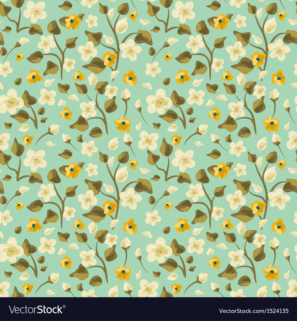 Flora seamless pattern vector | Price: 1 Credit (USD $1)