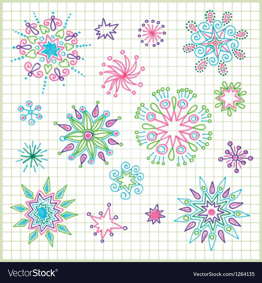 Hand draw doodle star element set vector   Price: 1 Credit (USD $1)