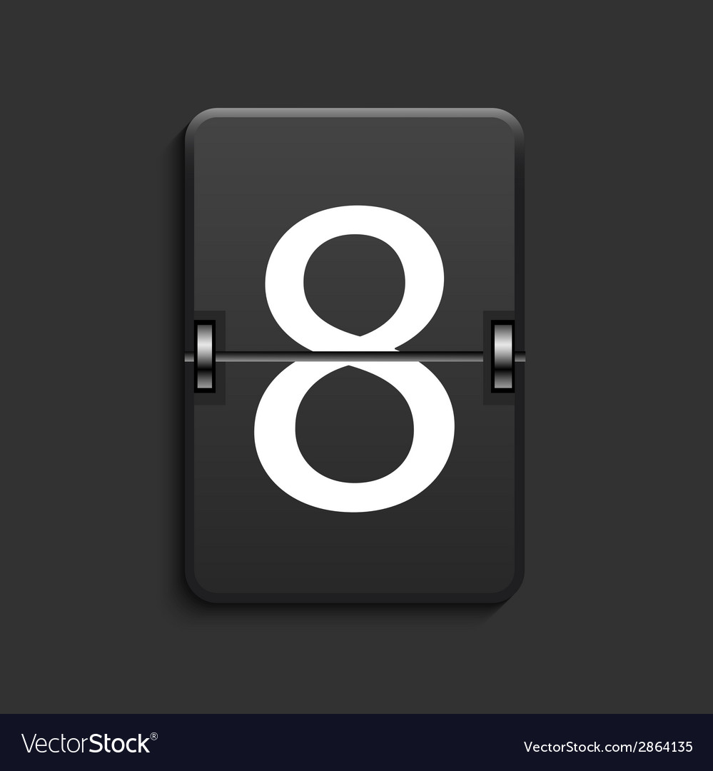 Modern numeric scoreboard with shadow vector | Price: 1 Credit (USD $1)