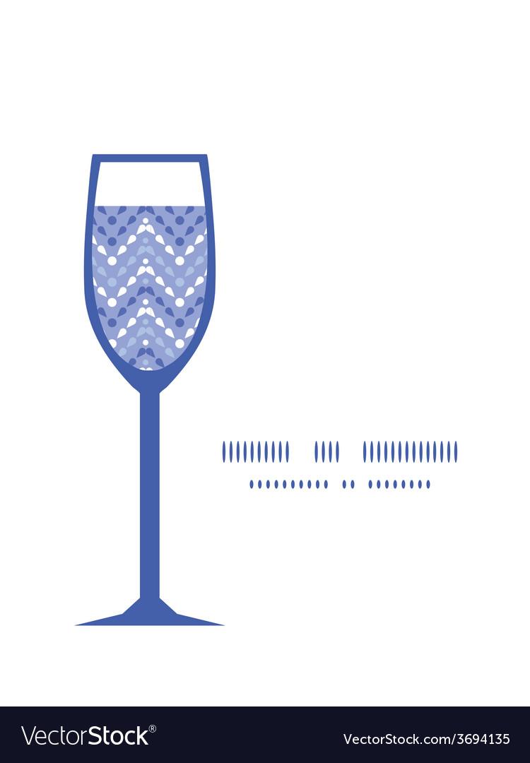 Purple drops chevron wine glass silhouette vector | Price: 1 Credit (USD $1)