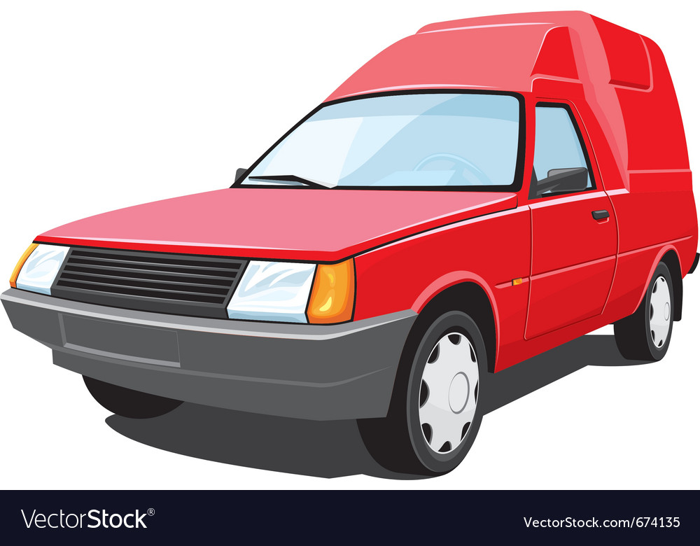 Red pickup vector | Price: 3 Credit (USD $3)