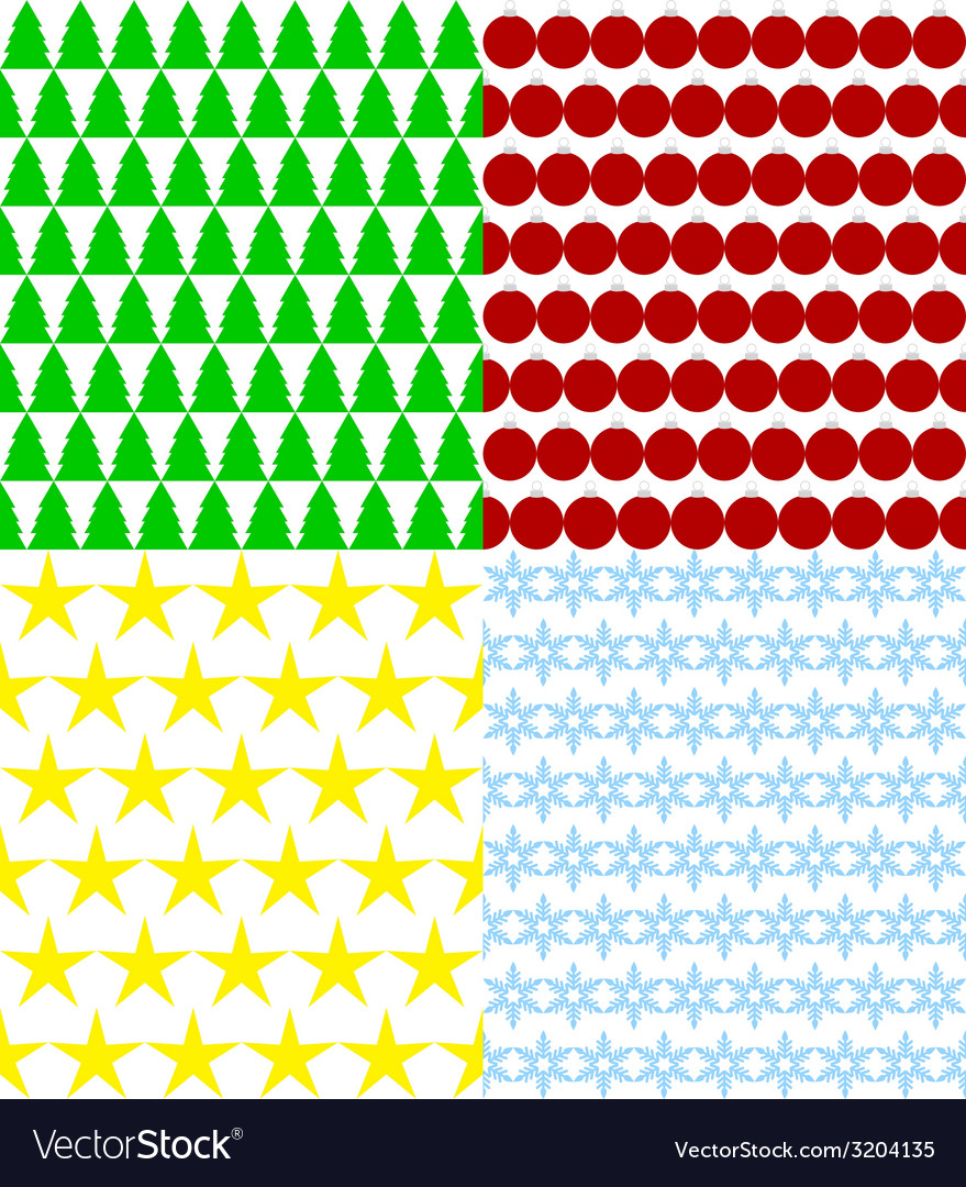 Set of seamless christmas backgrounds vector | Price: 1 Credit (USD $1)