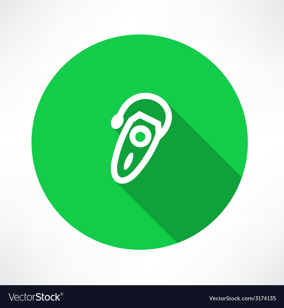 Single hearing aid icon vector | Price: 1 Credit (USD $1)