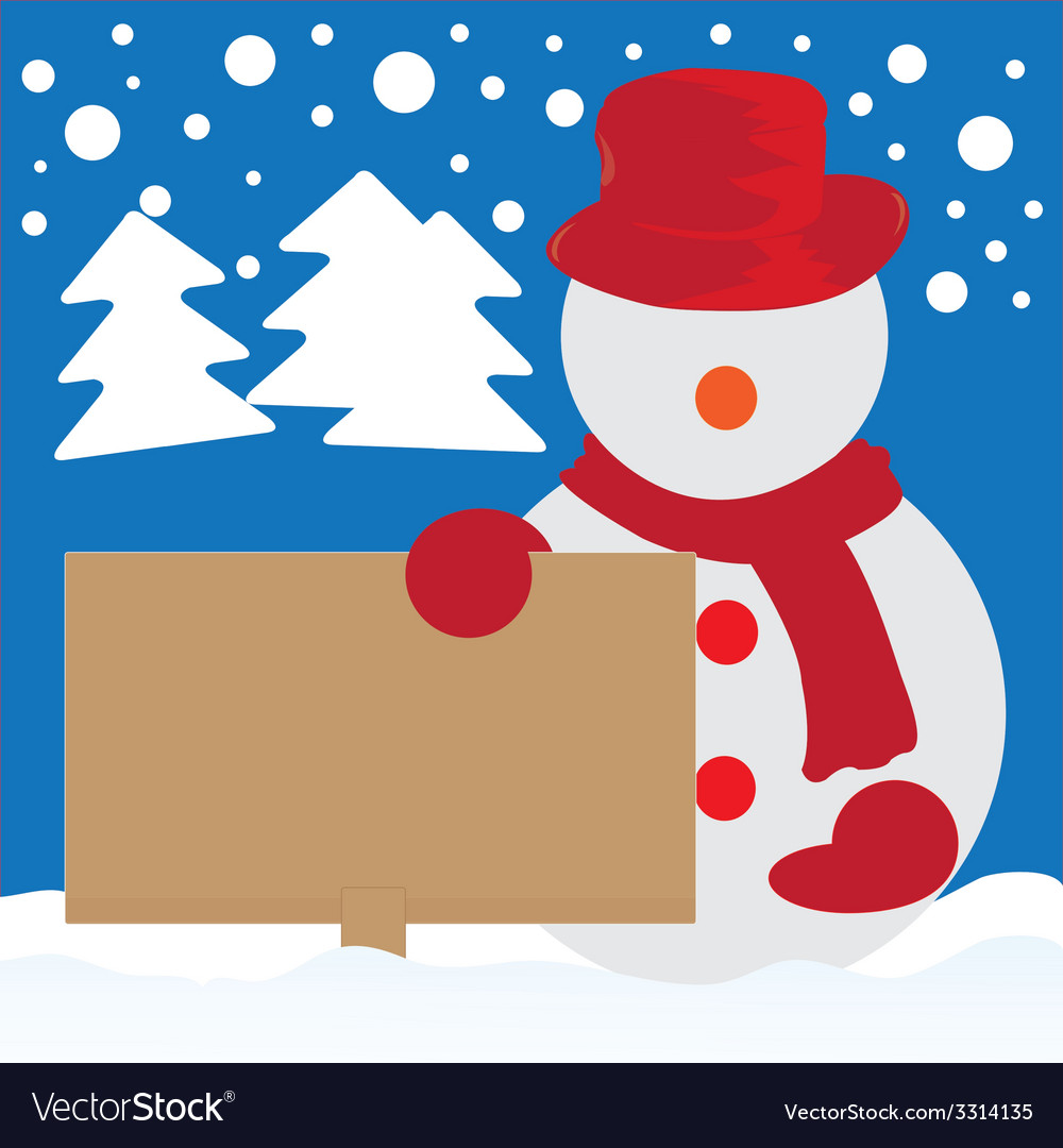 Snowman cartoon vector | Price: 1 Credit (USD $1)