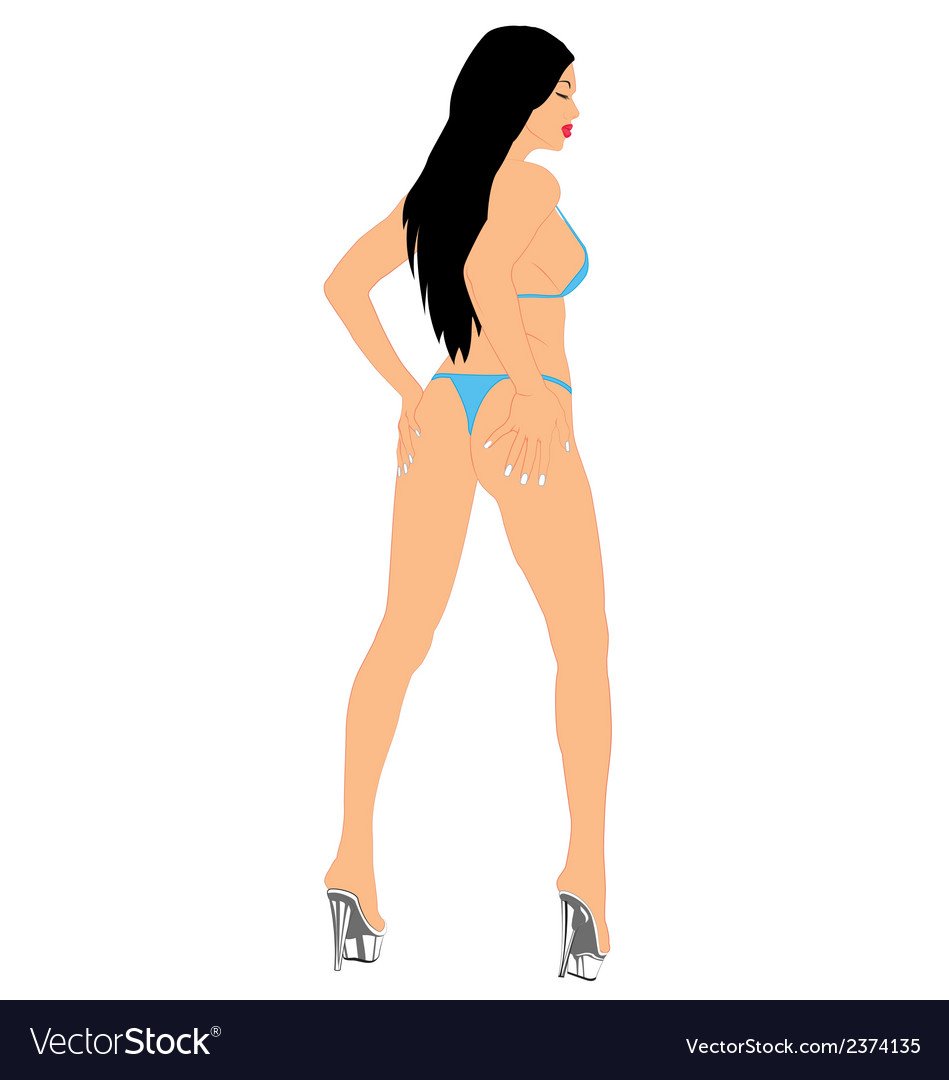 Woman sexy2 vector | Price: 1 Credit (USD $1)