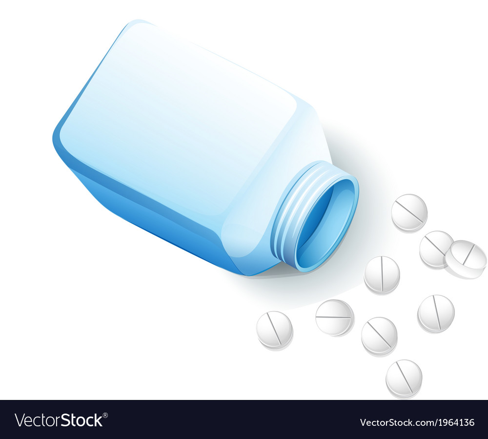 A bottle with medical tablets vector | Price: 1 Credit (USD $1)
