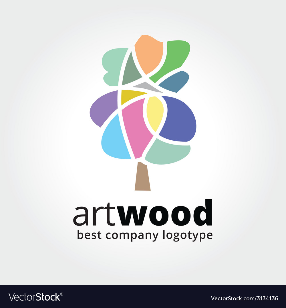 Abstract colored tree logotype concept isolated on vector | Price: 1 Credit (USD $1)
