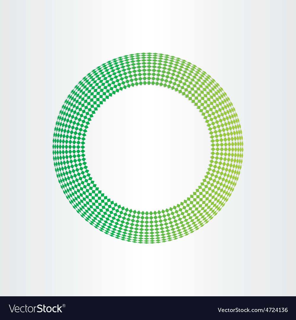 Abstract green circle background with squares vector   Price: 1 Credit (USD $1)